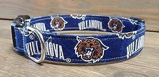 Villanova Wildcats dog collar buckle or martingale with leash set option