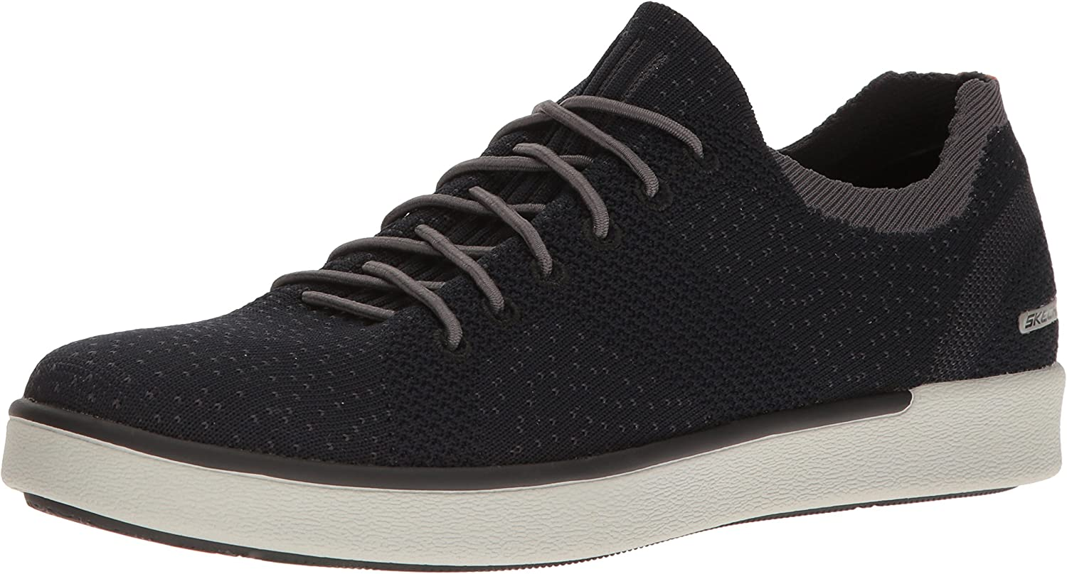 Skechers 65033 Lace Trainers in Black