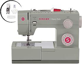 Singer Heavy Duty 4452 Máquina de coser con accesorios, 32 puntadas integradas, motor 60 % más fuerte, placa de cama de acero inoxidable, 48% más rápida velocidad de costura y enhebrador automático de agujas