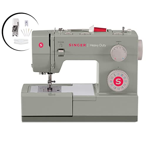 SINGER | Heavy Duty 4452 Sewing Machine with Accessories, 32 Built-In Stitches,