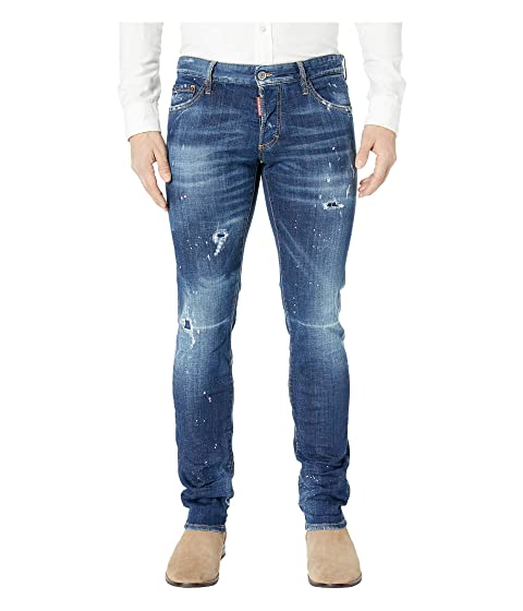 Pink Jeans In Dark Spray Wash Dsquared2 Blue Slim At 7mYfvIb6gy