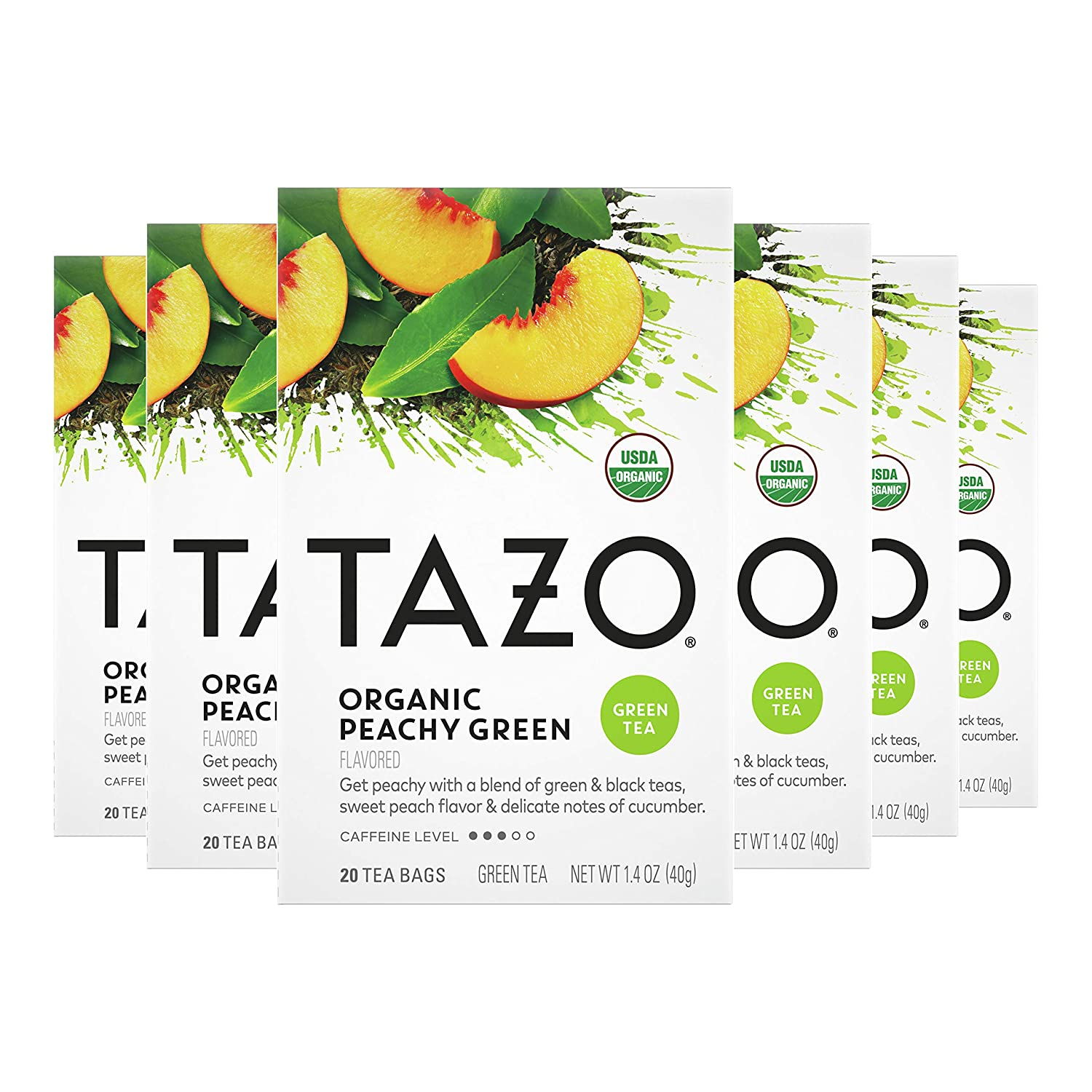 Tazo Organic Peachy Factory outlet Green Tea Bags For Cup of G Our shop most popular Refreshing a