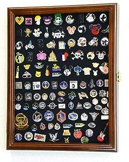 Walnut Lapel Pin Display Case Cabinet Shadow Box Frame Hard Rock Collector Pins