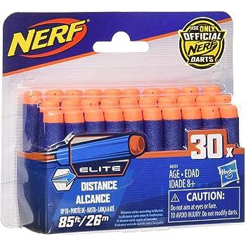 Nerf Darts 30-Pack Refill for Nerf Elite Blasters - Official Nerf N-Strike Elite Darts - for Kids, Teens, Adults
