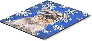 Caroline's Treasures Winter Snowflakes Holiday Schnauzer Mouse Pad/Hot Pad/Trivet (KJ1179MP)