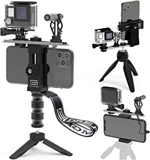 Video Rig for Vertical/Horizontal Shooting DREAMGRIP Scout VL with Directional Minigun mic, Lavalier Lapel Microphone, Bes...