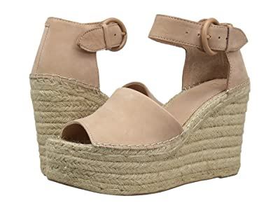Marc Fisher LTD Alida Espadrille Wedge (Light Pale Rust Suede) Women