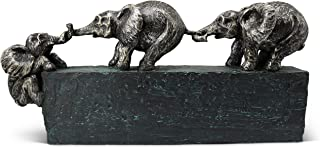 Sculpture « Liens familiaux » - un symbole intemporel de la cohésion au sein de la famille & de l'équipe - Décoration de 4...