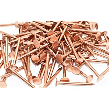 1 5 Inch Copper Nails For Slating Roofing 10 Oz Pack Of Solid Copper Nail Spikes Amazon Com