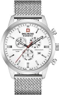 Swiss Military - Reloj Cronógrafo para Hombre de Cuarzo con Correa en Acero Inoxidable 06-3308.04.001