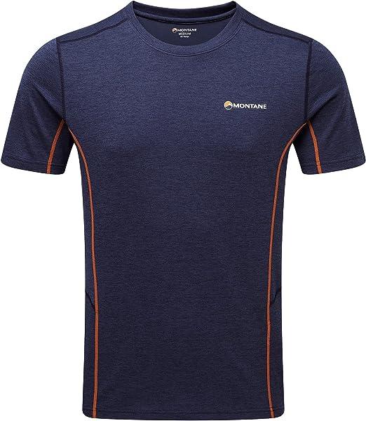 Montane Mens Dart T Shirt Tee Top Grey Sports Outdoors Breathable Lightweight