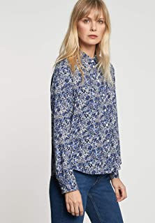 eea361428d Seidensticker - Chemisier Capsule Liberty London Fabrics Fleurs Bleues