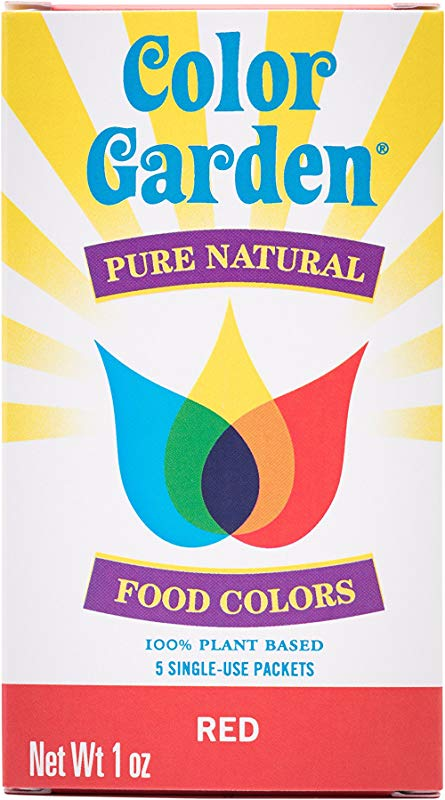 Color Garden Pure Natural Food Colors Red 5 Ct
