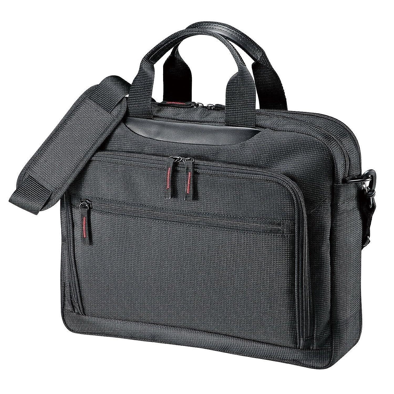 サンワサプライ マチ拡張PCバッグ 14インチワイド対応 BAG-W1BKN