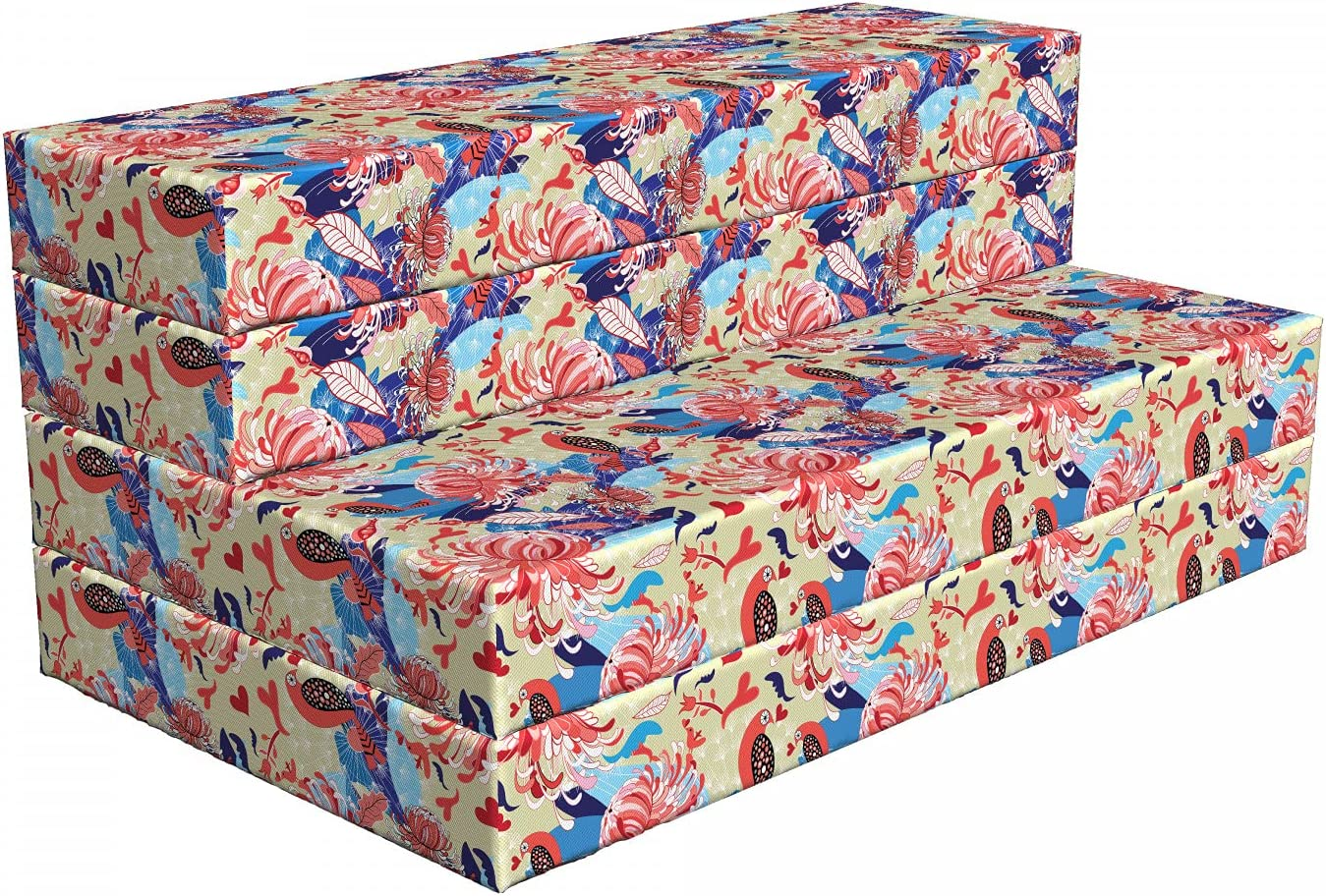 70% OFF Outlet free Ambesonne Birds Foldable Mattress Romantic x 78.7