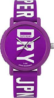 Superdry Campus Block Analogue Purple Dial And Purple Rubber Watch For Women - SYL196VW