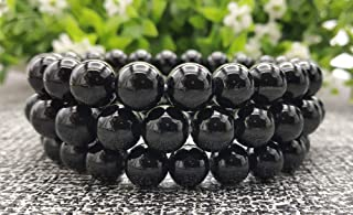 Natural Gemstone Crystal Bracelet for Men Women, Stretchable Stress Relief Bracelet (8mm Healing Stone Beads)
