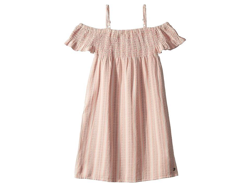 Roxy Kids Smocky Sun Dress (Big Kids) (Cloud Pink Multistripes) Girl