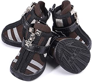 URBEST Dog Winter Shoes, Dog Boots Sports Non-Slip Pet Dog Anti-Slip Sole, Water Resistant Boots for Small Puppy Dogs, 2 P...