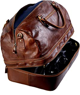 leather travel bags with wheels