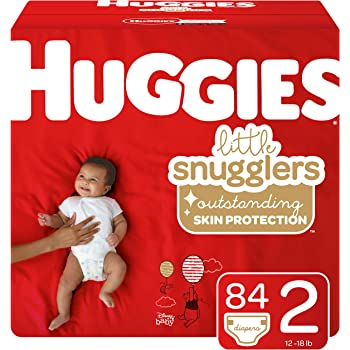 Huggies Little Snugglers Diapers, Size 2, 84 Ct