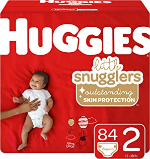 Huggies Little Snugglers Baby Diapers, Size 2, 84 Ct