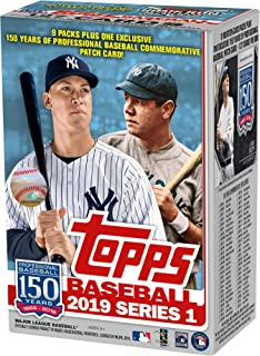 2019 Topps Baseball Series 1 Factory Sealed 9 Pack Exclusive Value Box - Baseball Wax Packs