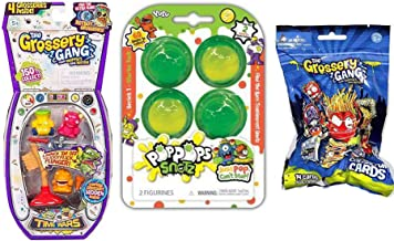 Pop Weird N' Fun Rotten Bizarre Flush Bathroom Drain Attack Pack Stinky Slimy Toilet Creature Bundle Time Wars Cards + grossery Gang + Flush Force Blind Toilet Flushies Monsters & Pop Snots 4 Items