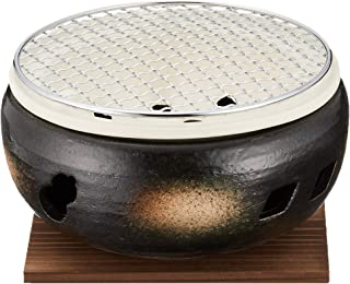 マルヨシ陶器 伊勢炭焼 水コンロ 7号 黒 M4603