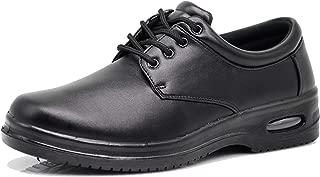 AL Mens Black Oil Resistant Professional Industrial Anti Slip Restaurant Rubber Air Sole Working Comfy Shoes