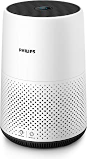 Philips AC0820/10 Purificador De Aire Para Hogar, Elimina Hasta 99,5% De Los Alérgenos, Tamaño Compacto Con Indicación En Color Y Silencios, blanco/negro, Superficie: 49 m²