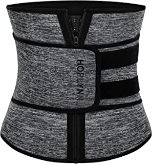 HOPLYNN Neoprene Sweat Waist Trainer Corset Trimmer Belt for Women Weight Loss, Waist Cincher Shaper Slimmer
