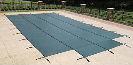 Blue Wave 18-ft x 36-ft Rectangular In Ground Pool Safety Cover w/ 4-ft x 8-ft Center Step - Green
