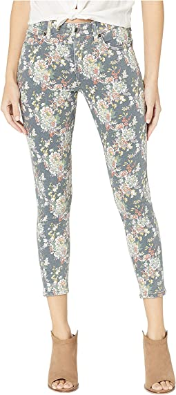 Ava Crop Jeans in Grey Multi Floral
