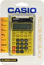 Casio SL-300NC-BYW Basic Calculator Large Display Tax Calc. YELLOW