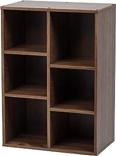 Amazon Merk Movian Module Furniture CFR-9060 Houten plank/boekenkast met 6 vakken, ontworpen hout, donker eiken