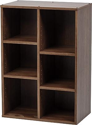 Marque Amazon - Movian 531498 Etagère de rangement 6 cubes en bois MDF, Engineered Wood, Chêne Brun, CFR-9060