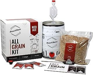 Brew & Share | Kit de bière Red Ale | Votre bière en 2 semaines. Élaboration avec des malts. Fermentation en fût. Matériau...