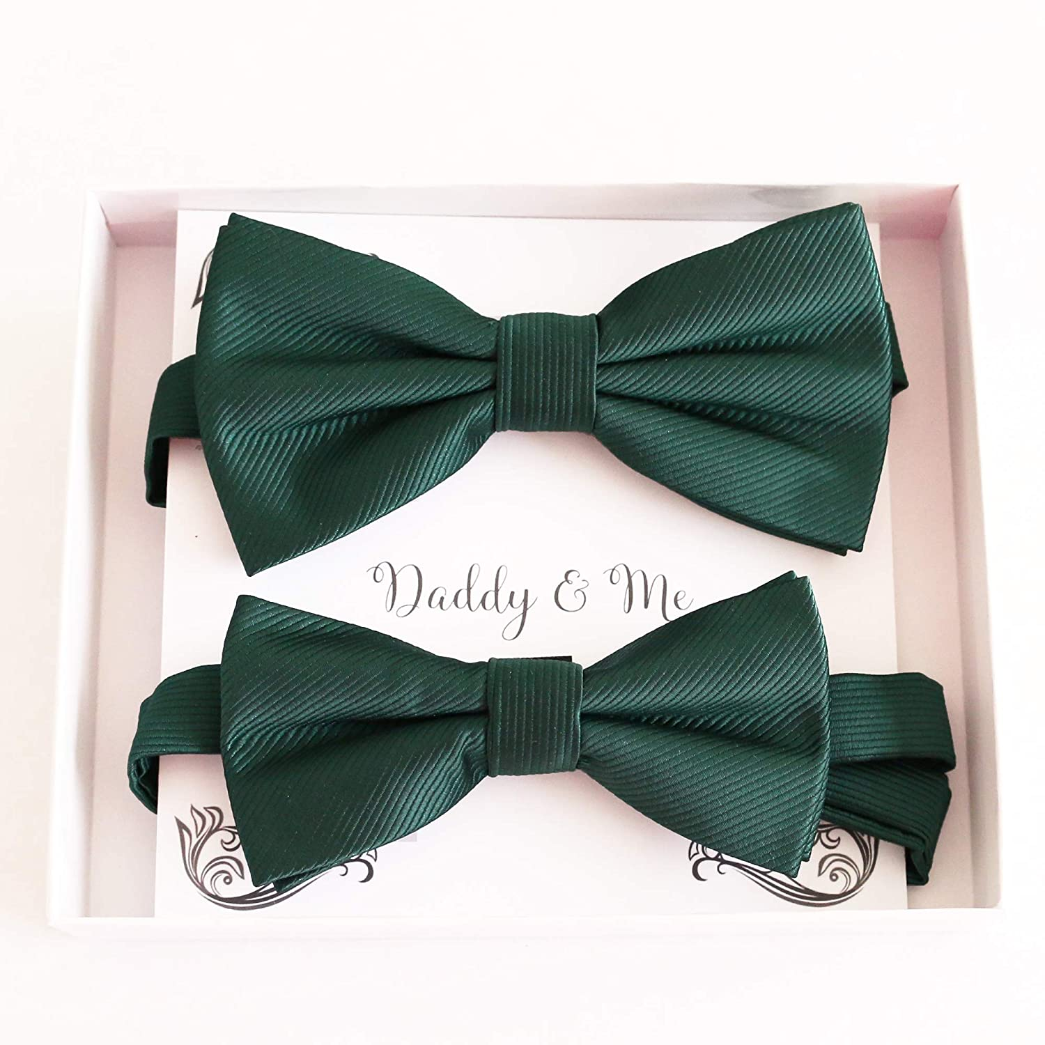 Emerald green Bow tie set for son half me gift Daddy Father daddy Product