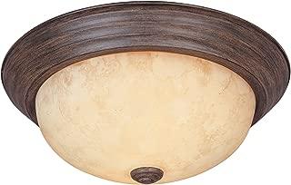 1257S-WM-AM Flushmount Ceiling Light Warm Mahogany 2-Light 11