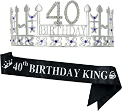 40th Birthday Gifts for Man, 40th Birthday Crown and
