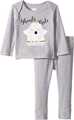 Halloween Ghost Long Sleeve Two-Piece Playwear Set (Infant)