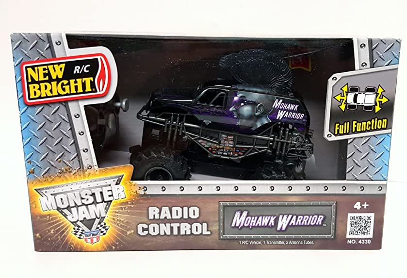 New Bright RC Radio Control Monster Jam Truck Mohawk Warrior 1:43