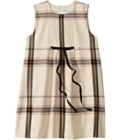 Plaid Flannel Sleeveless Dress with Pleating (Toddler/Little Kids/Big Kids)