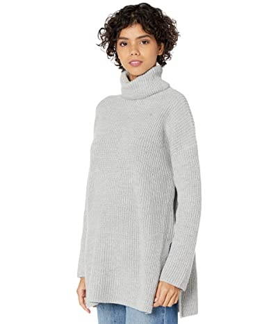 WAYF Culver Turtleneck Sweaterdress (Heather Grey) Women