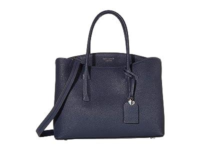 Kate Spade New York Margaux Large Satchel (Blazer Blue) Satchel Handbags