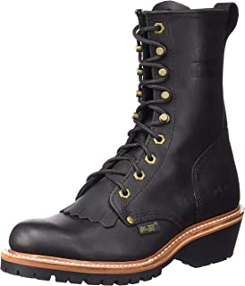 "AdTec Men's 1964 10"" Fireman Logger Black Work Boot, 9 W US"