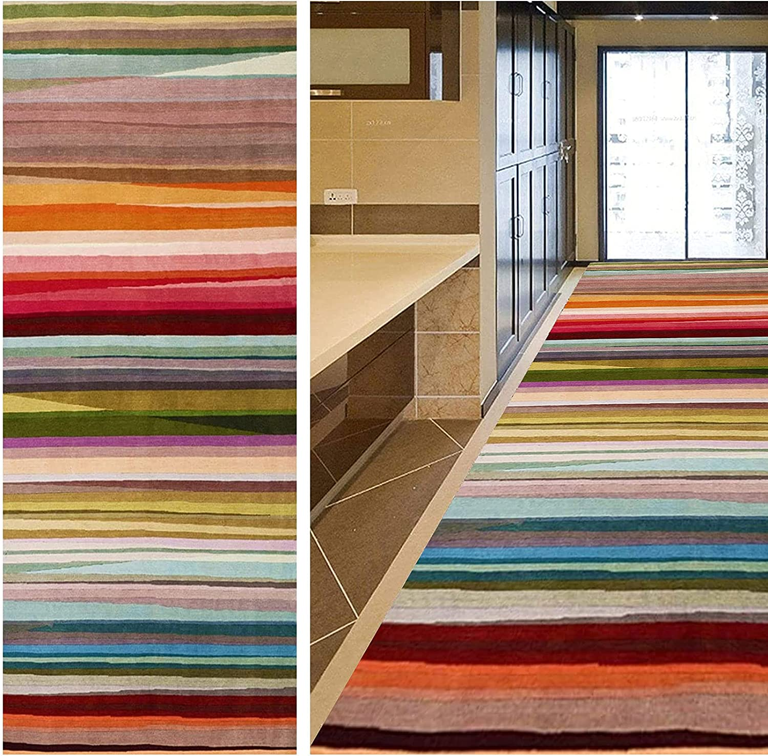 GUOYUYU Runner Cheap bargain Rug 90x120cm Durable Made Co Outdoor Multi New Free Shipping