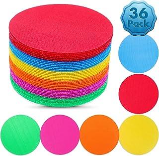 "cridoz 36 Pack 5"" Carpet Markers Sitting Carpet Spot Markers Floor Spots for Classroom Teachers"
