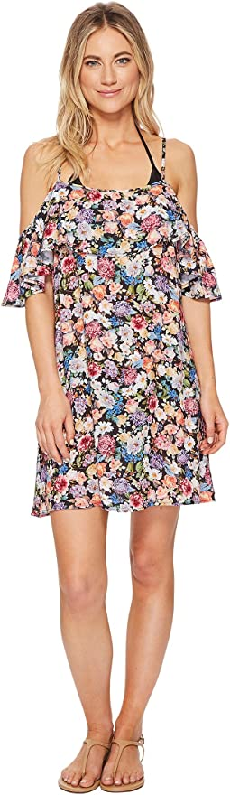 Lucky Brand - Late Bloomer Cold Shoulder Ruffle Dress Cover-Up